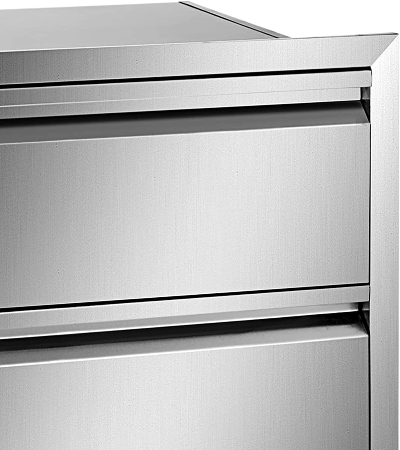BBQ Drawers for Outdoor Kitchens or BBQ Island Mophorn 18x20.5 Inch Outdoor Kitchen Drawers Stainless Steel Flush Mount Triple Drawers,18W x 20.5H x 20.7D Inch with Stainless Steel Handle