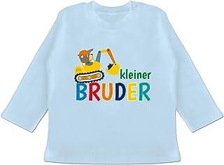 Shirtracer Geschwisterliebe Baby - Kleiner Bruder Bagger - Baby T-Shirt Langarm
