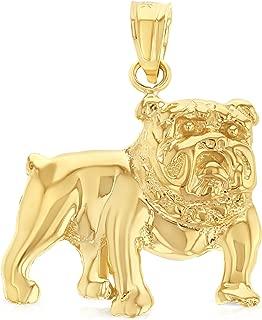 bulldog gold pendant