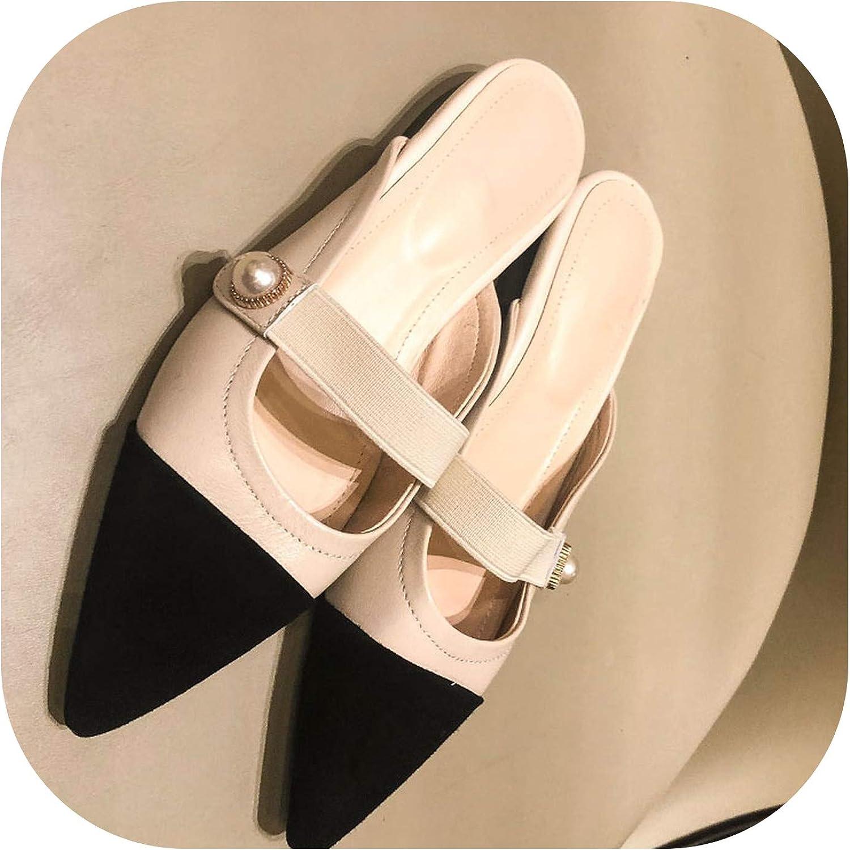 Slippers Woman Small Fragrance Women Slides shoes Female Sheepskin Flat MUL,