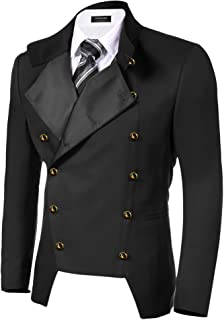 COOFANDY Men`s Casual Double-Breasted Jacket Slim Fit Blazer