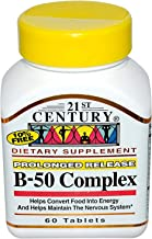 21st Century Complex B-50 Tablets Prolonged Release - 60 ct, Pack of 2