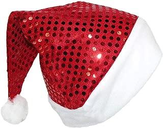 Women's Sequin Santa Hat