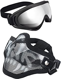 airsoft mesh mask and goggles