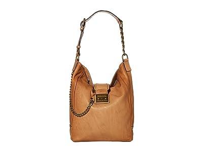 Frye Ella Hobo (Beige) Handbags