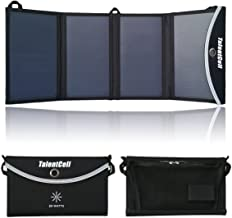 TalentCell 24W Foldable Solar Panel Charger with DC 15V and 5V Dual USB Output for Charging All types of 12V Rechargeable Batteries and Most 5V Devices