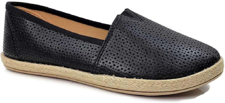 Steven Ella Lauren Comfort Flat Slip -on Esfarille Esfarille Esfarille Close Toe Flats Perforöd, svart, 7  kostnadseffektiv