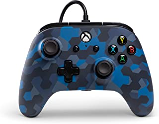 PowerA Wired Controller Officially Licensed by Microsoft Compatible with Xbox One, Xbox One S, Xbox One X & Windows 10 - Stealth Blue Camouflage