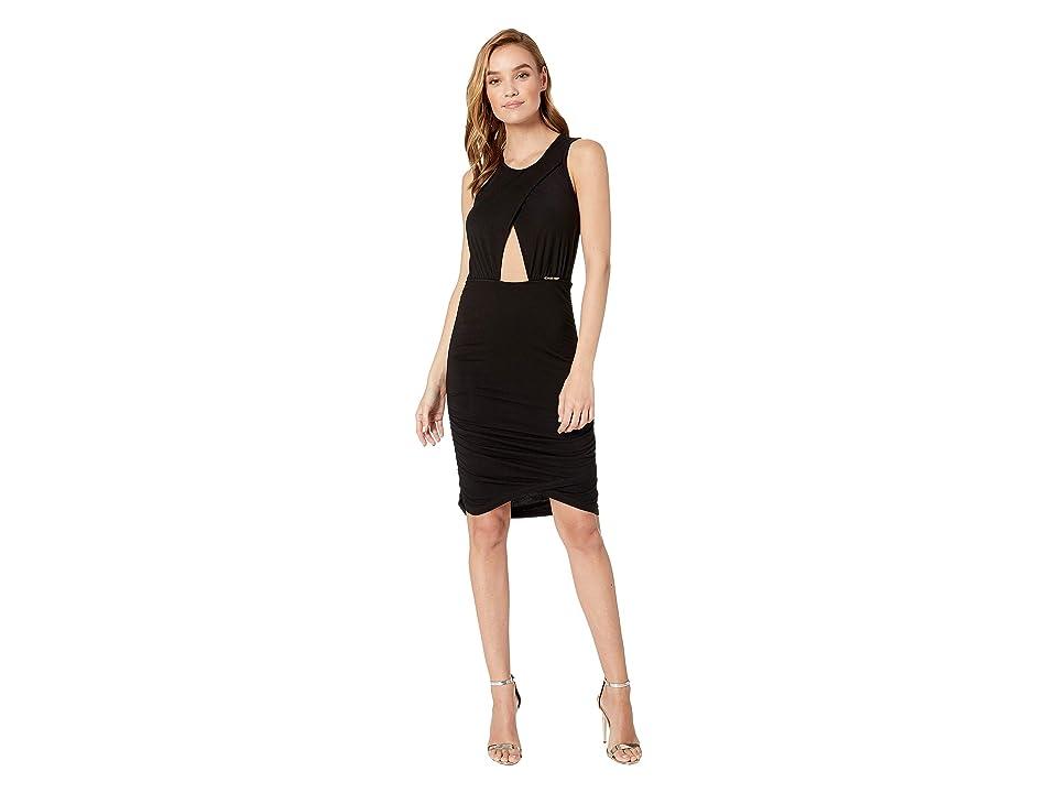 Bebe Keyhole Dress (Black) Women