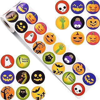 Outus 200 Pezzi Adesivi Artigianali di Zucca di Halloween Adesivi Viso di Zucca Adesivi Decorazione di Zucca per la Festa di Halloween 50 Fogli