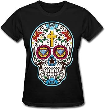 De la Mujer Gran azúcar Calavera Mexicana para el día de los Muertos Camiseta, Dia de los t 074