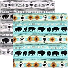 Montana West Bandanas for Women Men, Multi-Purpose Scarf with Western Print Cotton Bandana Headband Scarf Headwear (2 Pack)