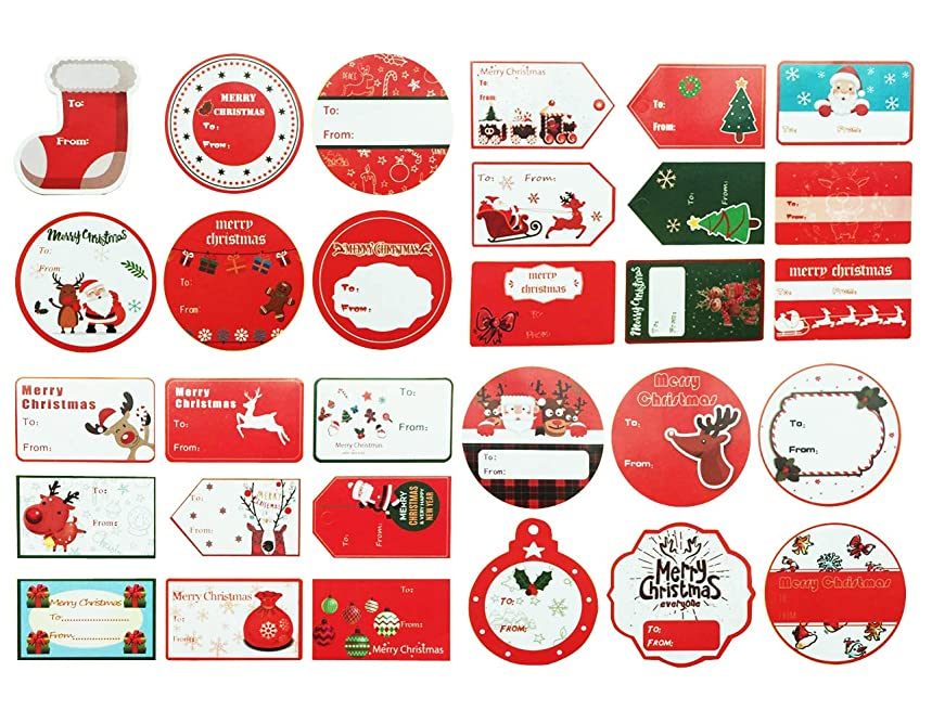 Christmas to from Sticker Santa Present Labels Peel & Stick Holiday Gift Tag Stickers Personalized Xmas Self-Adhesive Package Box Wrapping Decals Paper 180PCS