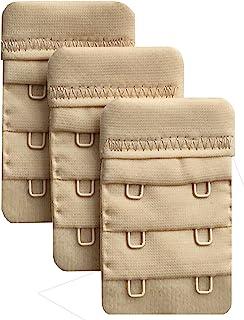 "Chanie Women Pack of 3 Soft Comfortable 2 Hooks Bra Extender,2.4""x 1.5"""