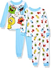 Sesame Street Baby Boys' 4-Piece Cotton Pajama Set
