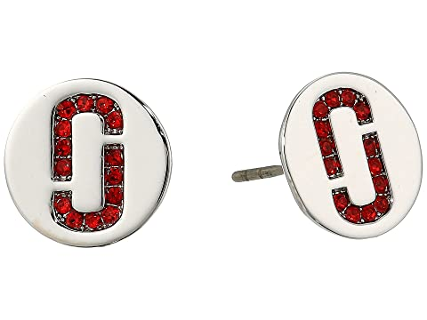 Marc Jacobs Double J Pave Studs Earrings