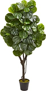 Nearly Natural 5-Ft. Fiddle Leaf Fig Artificial Silk Trees Green
