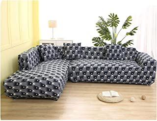 Asarahshop Geometric Pattern 1 Piece/ 2 Pieces Sofa Cover for L Shaped Sectional Sofa Couch Cover Sofa Towel Sofa Covers for Living Room,Color 8,1seater and 3seater