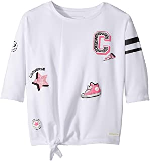 Converse Kids Girls Tie Front Patches Knit Tee Big Kids