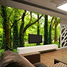 Green Tree Forest Custom Stereo Large Mural 3D Wallpaper Living Room Sofa Bedroom Tv Background Photo Wall Paper Modern Painting,450X300cm