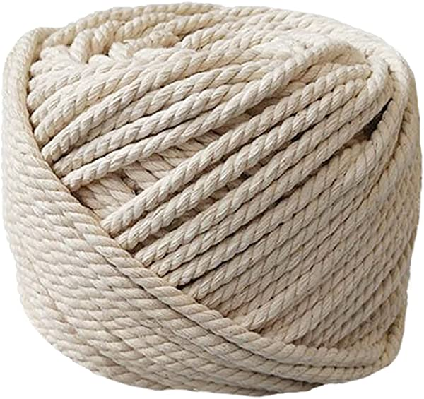 PYJTRL 100 Natural Cotton Twisted Rope 1 12 1 8 1 6 1 5 6mm 1 4Inch X 165Feet
