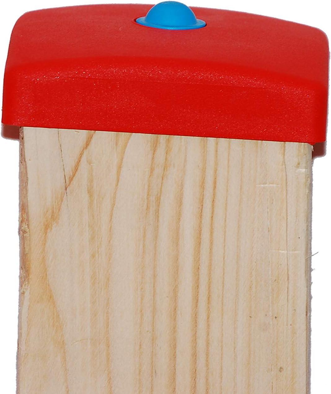 OTITU Just Fun Copripalo di plastica per palo Quadrata 90x90 mm Giallo