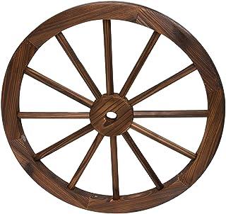 Rueda de Madera de Carro Estilo Vintage con un diámetro de 80 centímetros I Modelo: