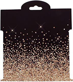 Champagne Rhinestone Crusted Hair-Bow Display Cards Large -50 Cards