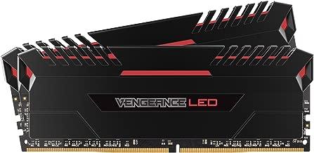 CORSAIR VENGEANCE LED 16GB (2x8GB) DDR4 3200MHz C16 Desktop Memory - Red LED
