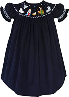 nativity smocked bishop dresses