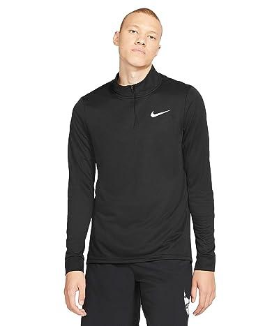 Nike Big Tall Dry Superset Top Long Sleeve 1/4 Zip (Black/White) Men