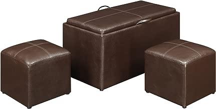 3 piece ottoman set with trays