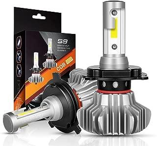 AutoFeel H4 LED Headlight Bulbs Hi/Lo Beam Conversion Kit, S9 Series Super Bright 24xCSP Chips LED Automotive Headlamp 9003 HB2 6000K Xenon White (2 Pack)