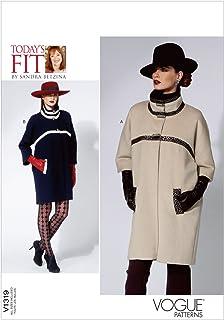 b87f5056fb Vogue Patterns V1319 - Patrones de costura para abrigos de mujer (todas las  tallas)