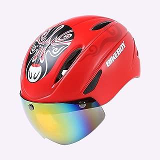 XiuFen Riding Helmet Glasses One-Piece Men Road Bike Mountain Bike Helmet Bicycle Helmet Restraint Goggles