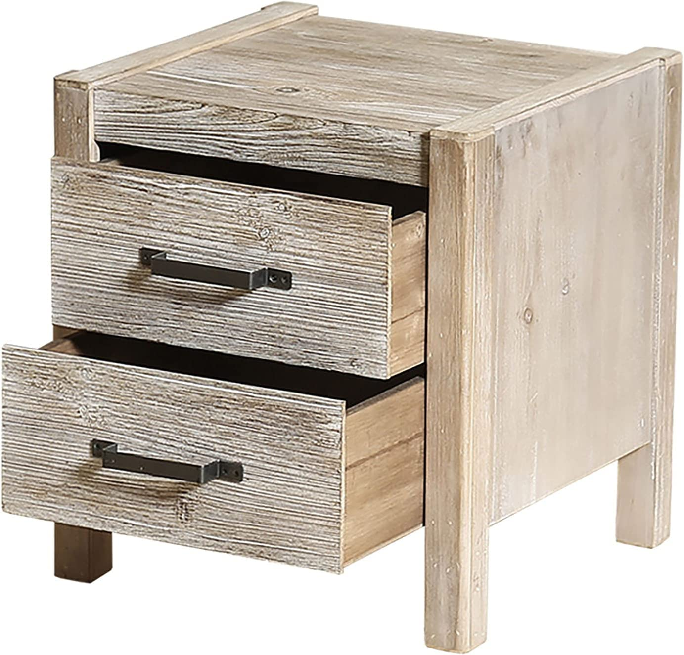 topbuyer Solid Wood Nightstand with Rustic Traditional Drawer 1 Ranking TOP19 San Diego Mall