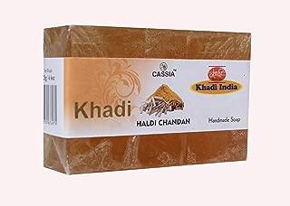 Khadi India Haldi Chandan Natural Handmade Soap (125g) Anti-Bacterial Skin Soap