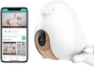 Cubo Ai Plus Smart Baby Monitor: Sleep Safety Alerts for Covered Face, Danger Zone & Sleep Analytics - 1080p HD Night Visi...