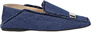 Luxury Fashion | Sergio Rossi Women A77990MFN8644025 Blue Denim Loafers | Spring-summer 20