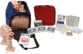 CPR Training Kit w Prestan Ultralite Manikins w/Feedback, and Practi-Trainer Essentials AED Trainers