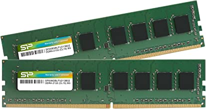 シリコンパワー デスクトップPC用メモリ DDR4-2133(PC4-17000) 8GBX2枚 288Pin 1.2V CL15 永久保証 SP016GBLFU213B22