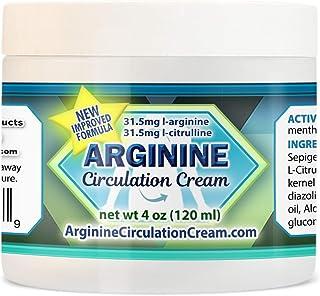 Arginine Circulation Cream - Menthol, L Arginine & L Citrulline Blood Circulation Supplement - Lotion Supports Improved Bl...