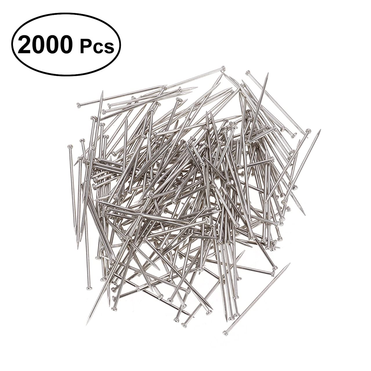ULTNICE Head Pins Dressmaker Straight Pins Office Pins for Jewelry Making Sewing 2000PCS