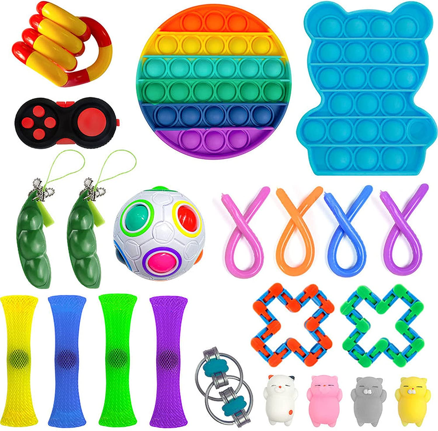 Financial sales sale Sensory Toy Set Waterproof 2021 Silicone Reli can You Material Help