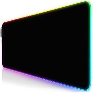 CSL - RGB Gaming Muismat TITANWOLF - LED Bureauonderlegger - 800x300 mm - XXL Muismat - LED Multi Color - 11 verlichtingsm...
