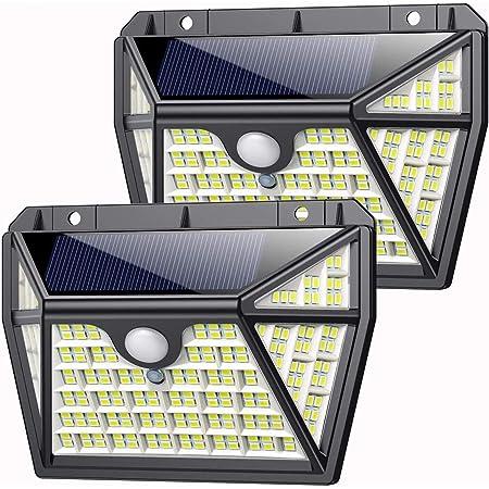 classe /énerg/étique A+++ 49 LED lampe solaire ext/érieure t/él/écommande IP66 /étanche 120 /° angle d/éclairage solaire applique murale pour jardin avec c/âble de 16,5 ft