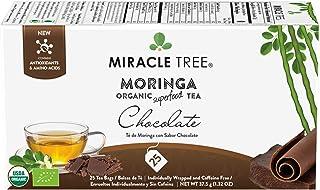 Sponsored Ad - Miracle Tree - Organic Moringa Superfood Tea, 25 Individually Sealed Tea Bags, Chocolate