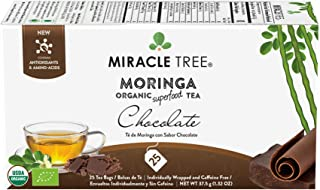 Miracle Tree - Organic Moringa Superfood Tea, 25 Individually Sealed Tea Bags, Chocolate