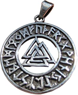 Everest Crystal Art 925 Silver Valknut Triquetra Triangle Norse Viking Germanic Pendant A2262