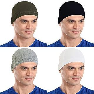 The Blazze Cotton Helmet Cap (Free Size, Army Green+Black+Grey+White)